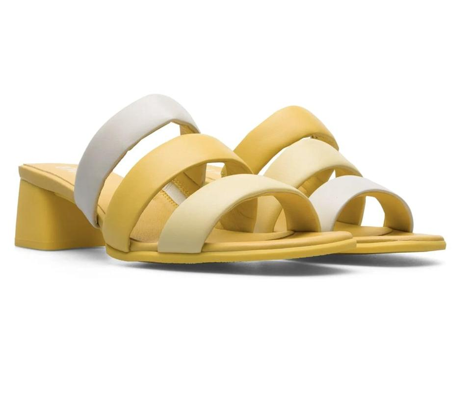 <p>This <span>Camper Twins Slide Sandal</span> ($130) is a dose of sunshine for your feet. Let the fun shoes speak for themselves and wear them with a white tee and jeans.</p>