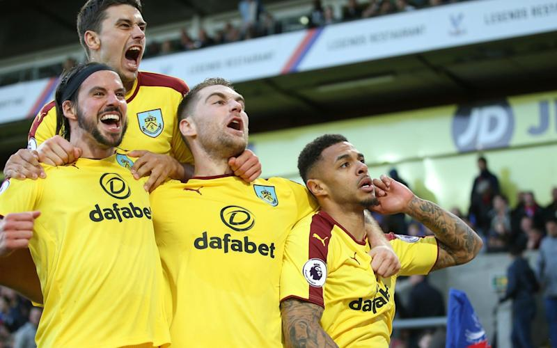 Burnley won their first league game away from home this season to leapfrog Crystal Palace and edge towards Premier League safety - Getty Images Europe