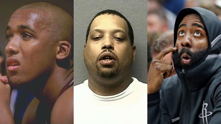 e944b0ce6503 Darian Blount (center) was convicted in the 2016 beating of Moses Malone Jr.  (left) in alleged defense of James Harden s honor. (AP)