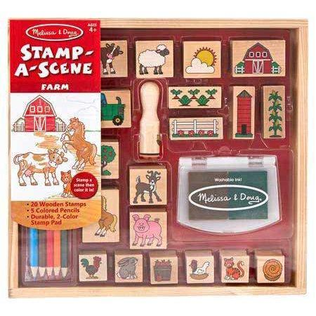 """<p><strong>Melissa & Doug</strong></p><p>walmart.com</p><p><strong>$16.42</strong></p><p><a href=""""https://go.redirectingat.com?id=74968X1596630&url=https%3A%2F%2Fwww.walmart.com%2Fip%2F39535913&sref=https%3A%2F%2Fwww.goodhousekeeping.com%2Fhome%2Fcraft-ideas%2Fg31897586%2Fcraft-kits-for-kids%2F"""" rel=""""nofollow noopener"""" target=""""_blank"""" data-ylk=""""slk:Shop Now"""" class=""""link rapid-noclick-resp"""">Shop Now</a></p><p>It's easy to capture a day on the farm with this 20-piece stamp set, which comes with its own ink. It also comes with five colored pencils so kids can add any other details they need.</p>"""