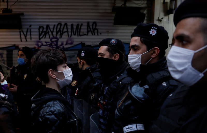 Protest against Turkey's withdrawal from Istanbul Convention