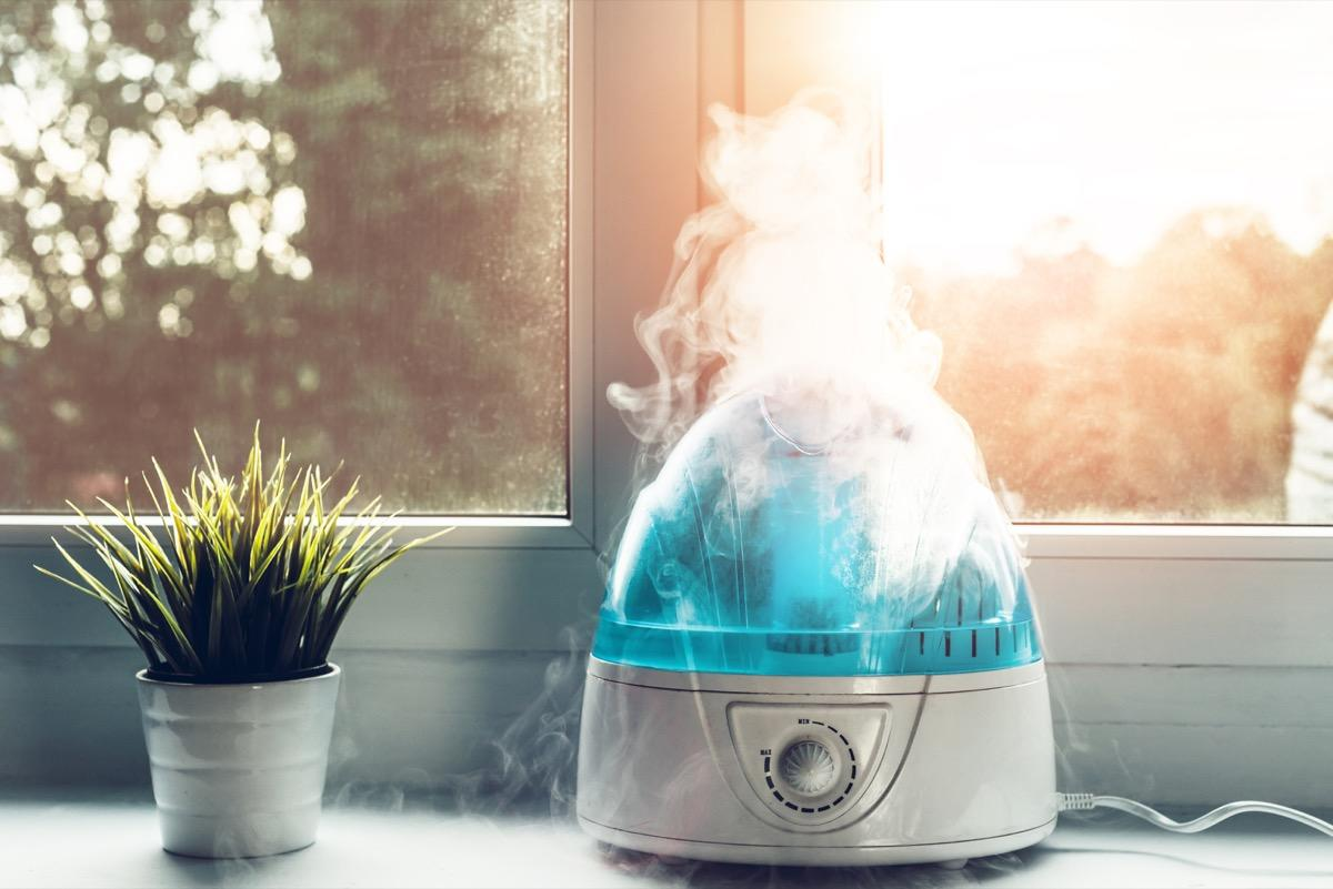 """This winter, make sure you maintain the moisture in your home—and in your skin—by investing in a humidifier. """"Dry heat can disrupt the skin barrier while you sleep. Consider a humidifier in your bedroom to help put moisture back into the air,"""" says dermatologist <strong><a href=""""http://www.zeichnerdermatology.com/"""" target=""""_blank"""">Joshua Zeichner</a></strong>, MD. He prefers cool mist humidifiers over hot steam ones, since the latter """"can burn you if you get too close."""""""