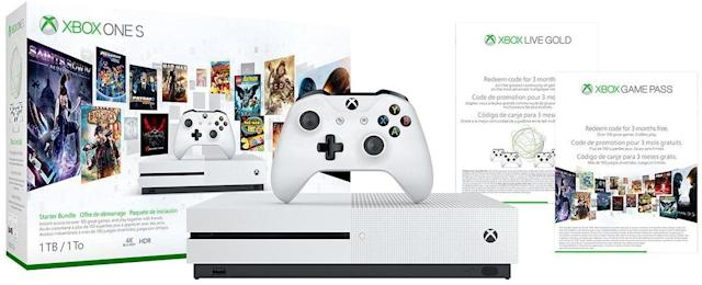 The Xbox One S starter bundle is marked down to $229.