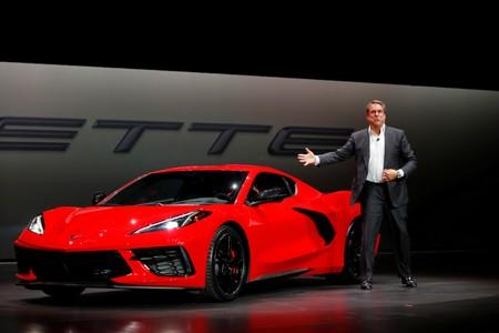 General Motors unveils its redesigned mid-engine C8 Corvette in Tustin