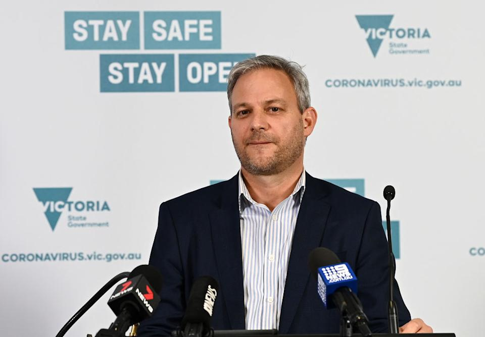 Victoria's Chief Health Officer Professor Brett Sutton told reporters on Tuesday he was concerned over the emergence of the case. Source: Getty
