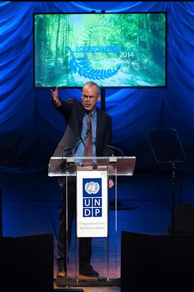 Bill McKibben, founder of the NGO 350.org, has pushed for investigations into whether ExxonMobil broke the law. (AFP Photo/D Dipasupil)