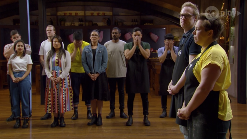 Jess' fellow contestants were shocked to see her go home. Photo: Ten