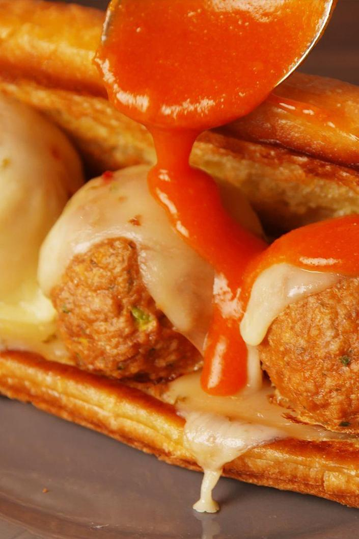 """<p>When wings alone won't cut it.</p><p>Get the recipe from <a href=""""https://www.delish.com/cooking/recipes/a53179/buffalo-chicken-meatball-sub-recipe/"""" rel=""""nofollow noopener"""" target=""""_blank"""" data-ylk=""""slk:Delish"""" class=""""link rapid-noclick-resp"""">Delish</a>.</p>"""