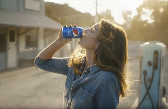 Cindy Crawford in a scene from Pepsi's Super Bowl spot. (PepsiCo via AP)