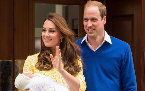 he Duke and Duchess of Cambridge outside the Lindo Wing of St Mary's Hospital in London, with Princess Charlotte - Credit: Dominic Lipinski/PA