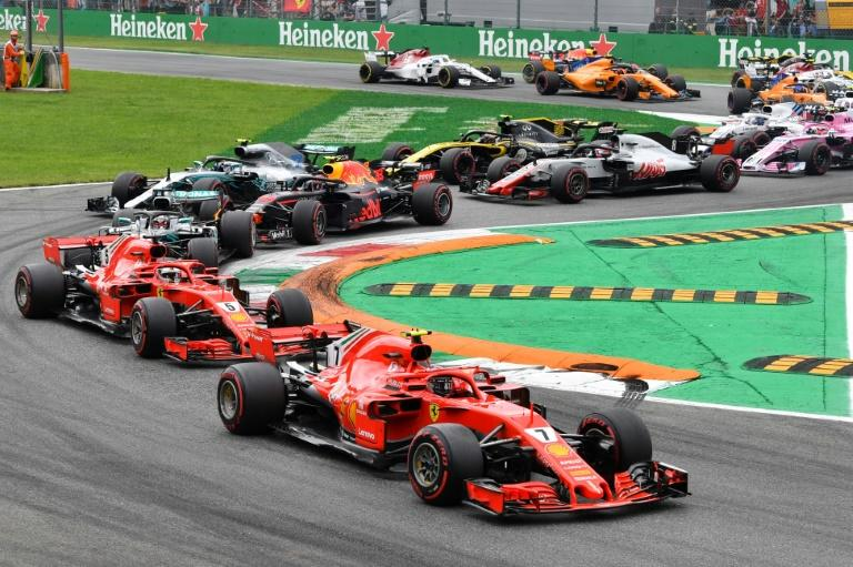 Sebastian Vettel and Lewis Hamilton clashed on the opening lap at Monza