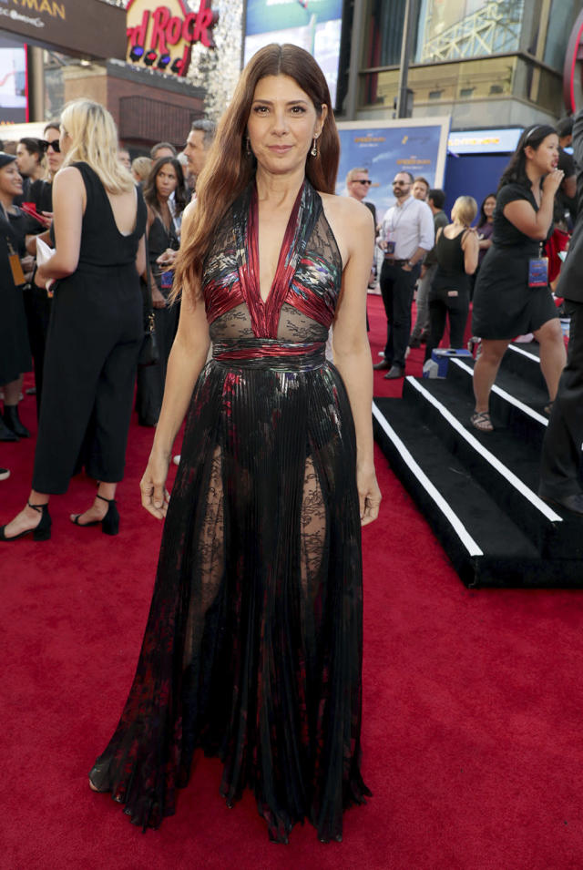 """<p>Aunt May gets a night out at the <a href=""""https://www.yahoo.com/movies/film/spider-man-homecoming"""" data-ylk=""""slk:Spider-Man: Homecoming"""" class=""""link rapid-noclick-resp""""><em>Spider-Man: Homecoming</em></a> premiere at TCL Chinese Theatre on June 28, 2017, in Hollywood. (Photo: Eric Charbonneau/Invision/AP Images) </p>"""