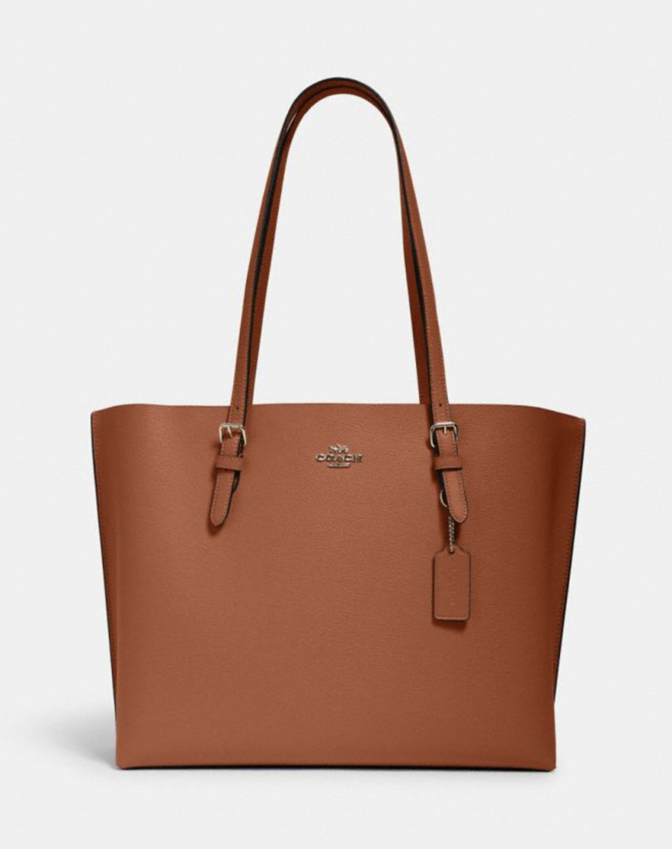 Mollie Tote in Redwood (Photo via Coach Outlet)