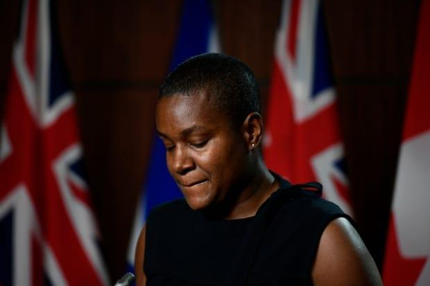 Annnamie Paul says the push to remove her as leader of the Greens was driven by a combination of racism and sexism that no other federal leader has to face. (Justin Tang/Canadian Press - image credit)