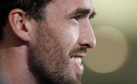 Leicester City's Christian Fuchs during the press conference