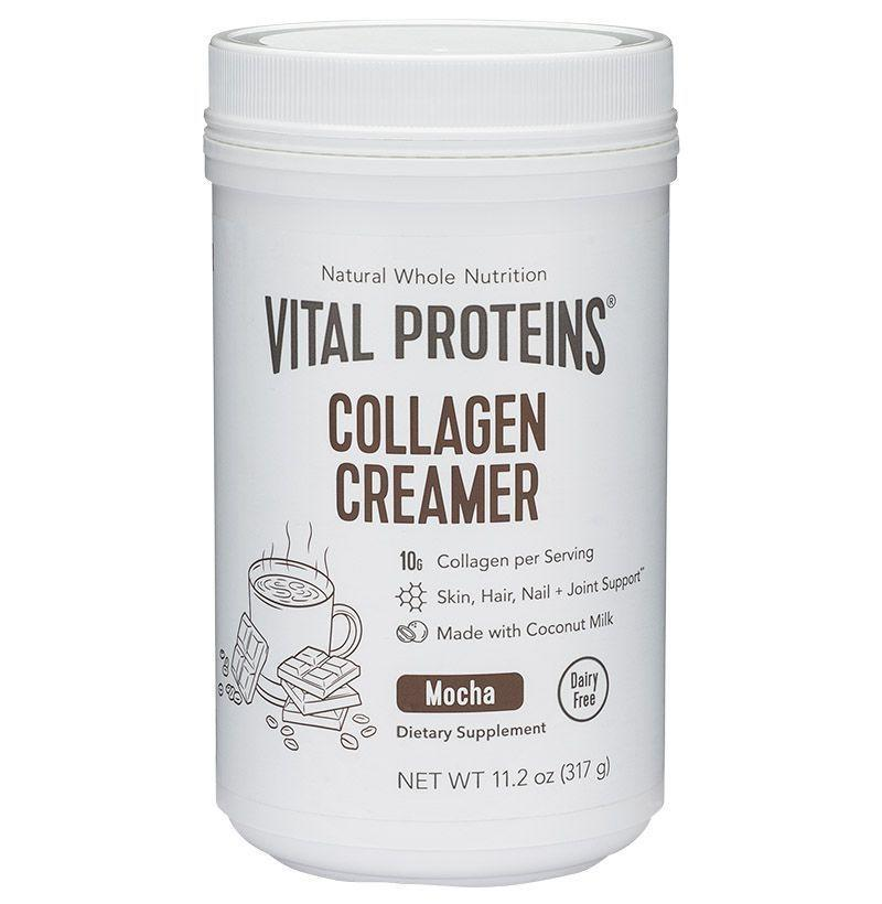 """<p><strong>Vital Proteins</strong></p><p>amazon.com</p><p><strong>$28.99</strong></p><p><a href=""""https://www.amazon.com/dp/B07G3Q6CT2?tag=syn-yahoo-20&ascsubtag=%5Bartid%7C10054.g.2121%5Bsrc%7Cyahoo-us"""" rel=""""nofollow noopener"""" target=""""_blank"""" data-ylk=""""slk:Buy"""" class=""""link rapid-noclick-resp"""">Buy</a></p><p>For the mom who takes her nutrition seriously, Vital Proteins' mocha collagen creamer will make her morning cup of coffee double as a protein boost. </p>"""