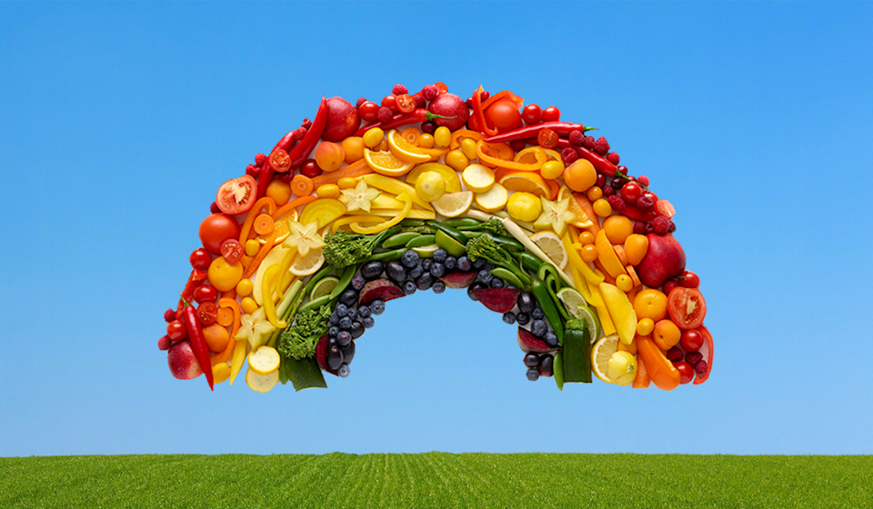 Eat the rainbow! Walmart's new delivery service brings fresh produce to your door, fast. (Photo: Getty)