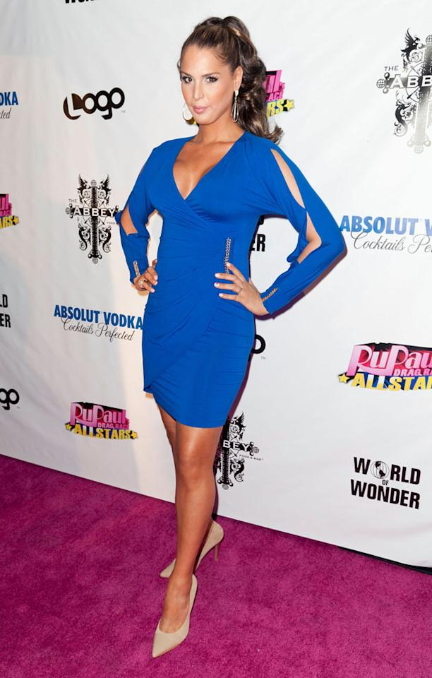 "Carmen Carrera arrives at the ""RuPaul's Drag Race: All Stars"" Premiere Party at The Abbey on October 16, 2012 in West Hollywood, California."