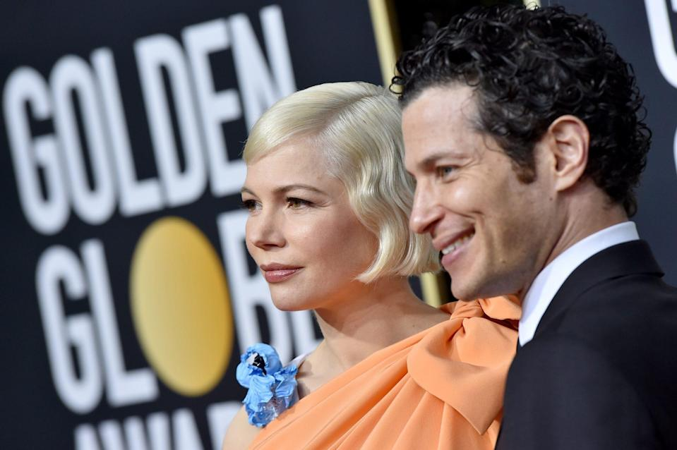 "<p>Michelle Williams and Thomas Kail welcomed their first child together, <a href=""https://www.usmagazine.com/celebrity-moms/news/michelle-williams-gives-birth-to-1st-child-with-husband-thomas-kail/"" rel=""nofollow noopener"" target=""_blank"" data-ylk=""slk:according to Us Weekly"" class=""link rapid-noclick-resp"">according to <em>Us Weekly</em></a>. The two reportedly married back in March after announcing their engagement in December. </p> <p>Williams has one daughter, Matilda, from a previous relationship with the late Heath Ledger.</p>"