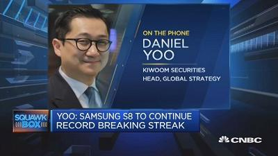 Daniel Yoo of Kiwoom Securities expects the South Korean conglomerate to dominate the smartphone market during the second and third quarter.