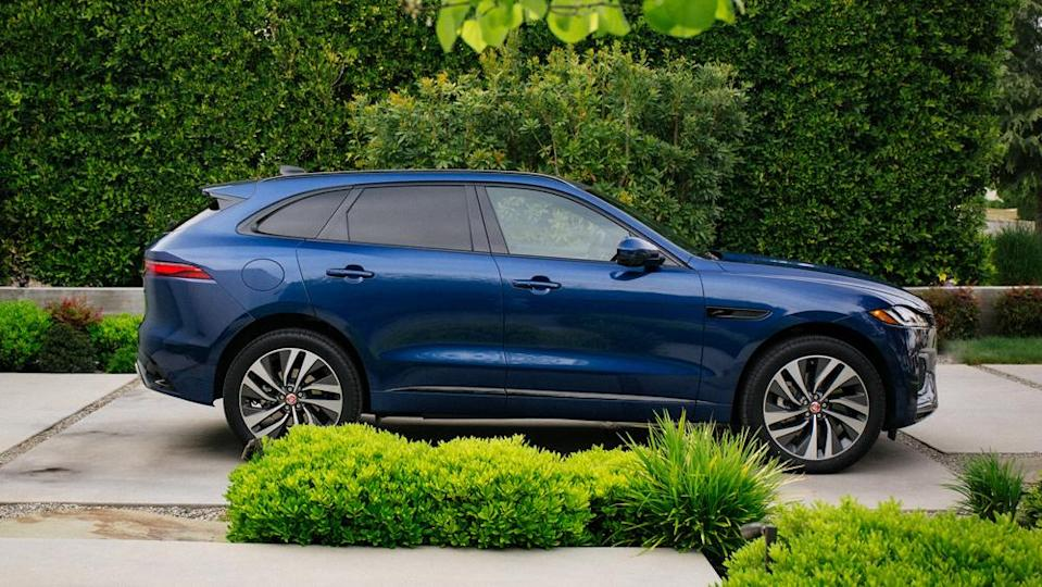 Our F-Pace P-400 R-Dynamic S tester was equipped with a 395 hp, 3.0-liter straight-six that drives all four wheels through a ZF eight-speed automatic transmission. - Credit: Jaguar Land Rover Automotive PLC.