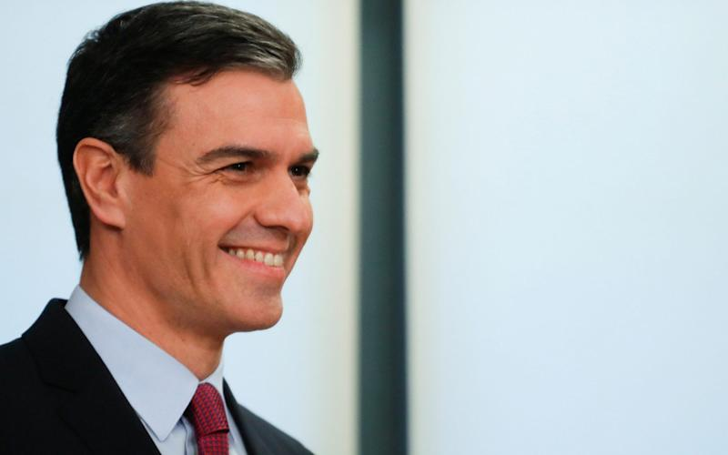Acting Prime Minister Pedro Sánchez should now be able to form a left-wing coalition government - REUTERS