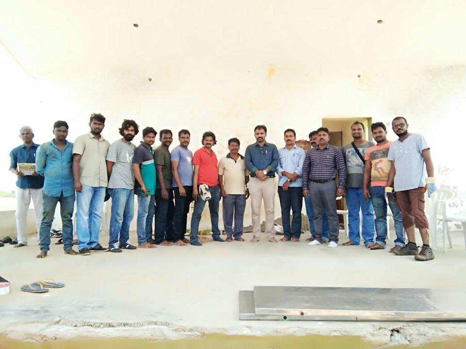 Srinivas Padakandla with his team  members