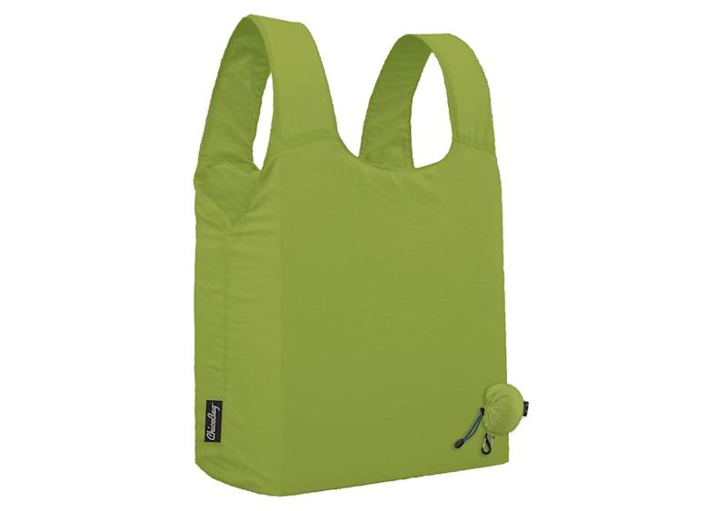 """How many times have you gotten to the checkout line only to remember that you left your reusable bags in the car or, worse yet, at home entirely? Chances are your recycling newbie pal has done this too. <strong><a href=""""https://amzn.to/2X60Jmw"""" target=""""_blank"""" rel=""""noopener noreferrer"""">The ChicoBag Micro Tote Bag</a></strong> clips onto keys or the side of a purse so you&rsquo;ll never leave home without it. A simple answer, yet a sustainable one. <strong><a href=""""https://amzn.to/2X60Jmw"""" target=""""_blank"""" rel=""""noopener noreferrer"""">Get it on Amazon</a></strong>."""