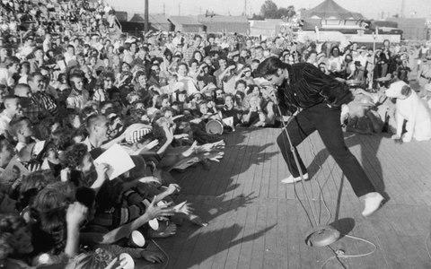 Elvis performing - Credit: Getty Images