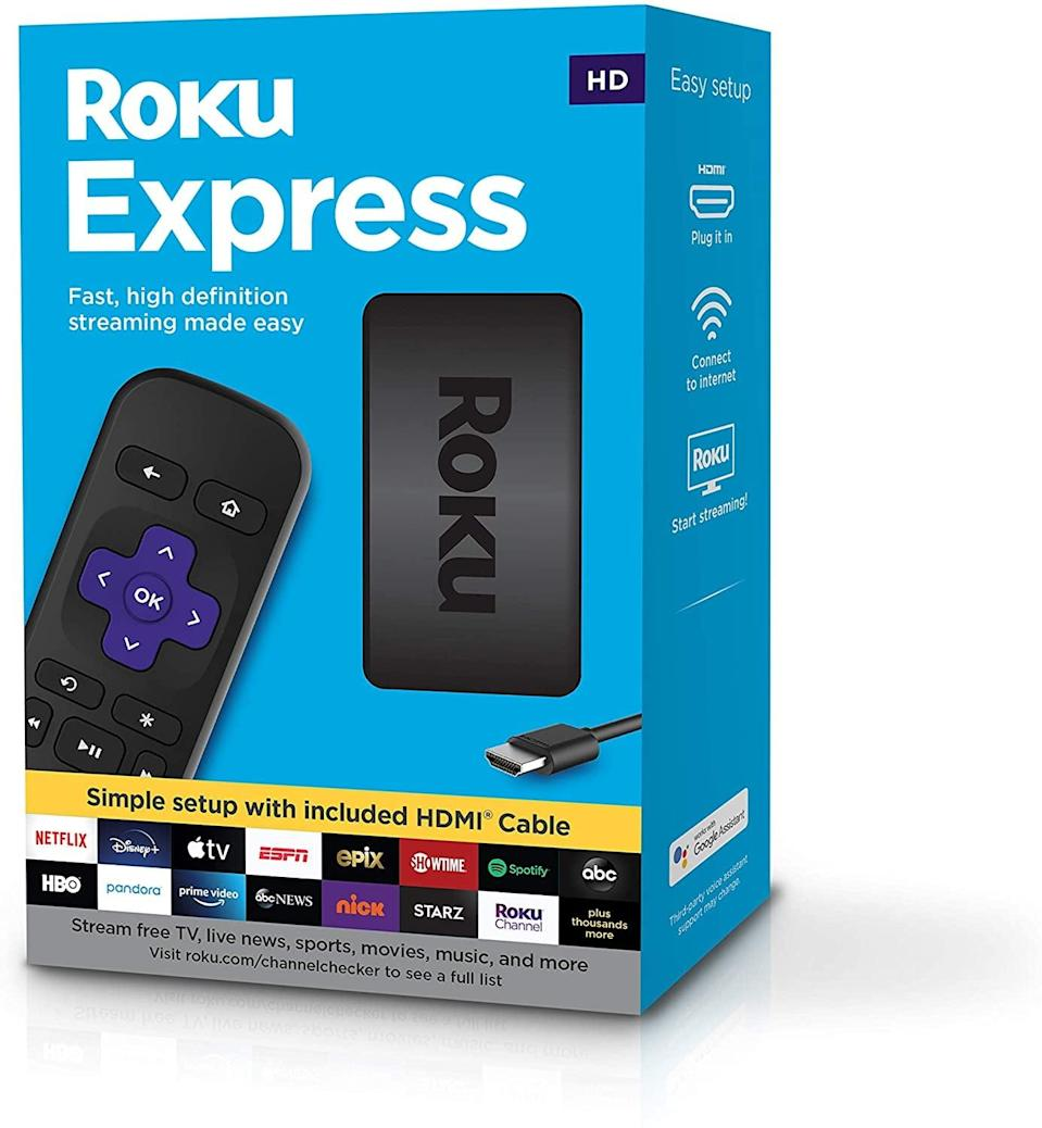 <p>House all your streaming platforms in one portable device with the <span>Roku Express </span> ($24, originally $30). </p>
