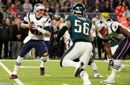 NFL Football - Philadelphia Eagles v New England Patriots - Super Bowl LII - U.S. Bank Stadium, Minneapolis, Minnesota, U.S. - February 4, 2018 New England Patriots' Tom Brady in action REUTERS/Kevin Lamarque