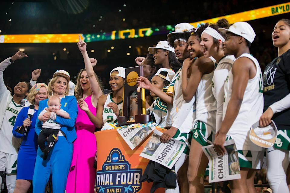 Best sport: women's basketball (national champion). Trajectory: steady. Baylor is occupying something of a middle realm within the Big 12, trailing Texas and the Oklahoma schools but leading the rest of the pack. The Bears had a very good year in women's sports: winning it all in hoops, making a deep run in women's soccer, having success in volleyball. Men's sports made several contributions but had no huge seasons.