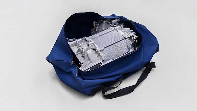 Volkswagen's ID.3 electric motor - compact enough to fit in a sports bag