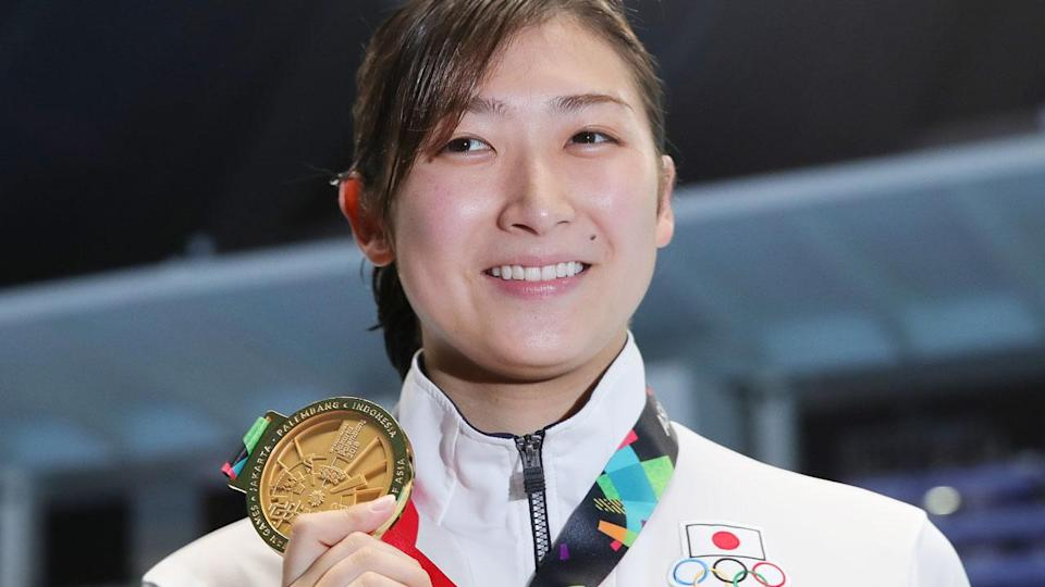 Rikako Ikee, 18, has been diagnosed with leukaemia. Pic: Getty