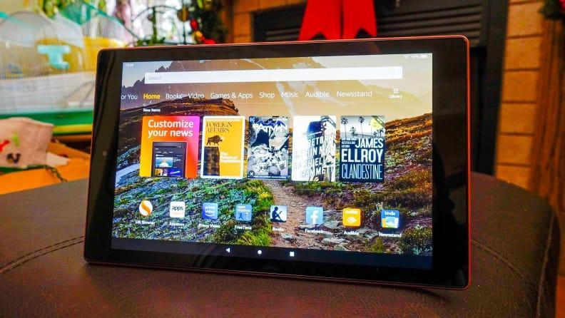 If you're on a tight budget, the Amazon Fire 10 HD is a fine tablet, for the money.