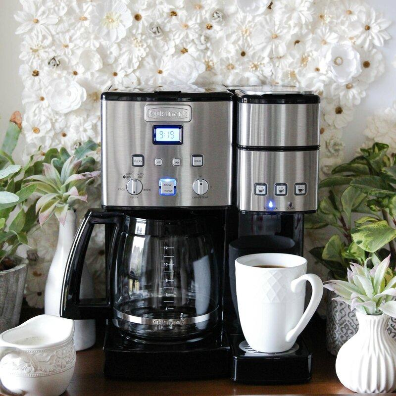 Cuisinart Coffee Center™ 12 Cup Coffeemaker and Single-Se. Image via Wayfair.