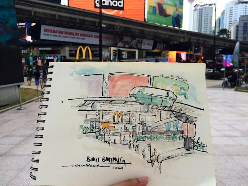 Sketching enthusiasts from KLsketchnation were prohibited from drawing some of KL's iconic landmarks. — Instagram/KLsketchnation