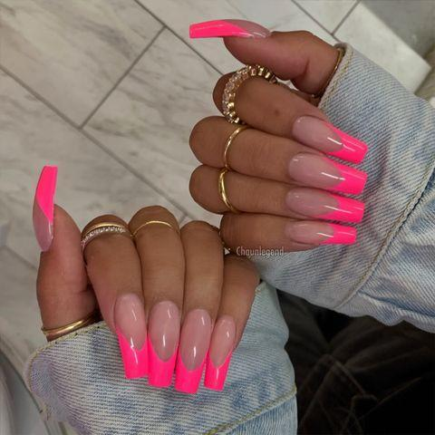 """<p>If you're aiming for retina burning bright, you can't go far wrong with this pink neon design.</p><p><a href=""""https://www.instagram.com/p/BxqoD4Ine0T/"""" rel=""""nofollow noopener"""" target=""""_blank"""" data-ylk=""""slk:See the original post on Instagram"""" class=""""link rapid-noclick-resp"""">See the original post on Instagram</a></p>"""