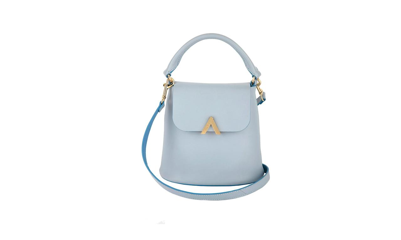 "<p>Bell Shoulder Bag in Fog, $178, <a rel=""nofollow"" href=""https://www.theesemble.com/collections/shoulder-bags/products/bell-shoulder-bag-fog"">theesemble.com</a> </p>"