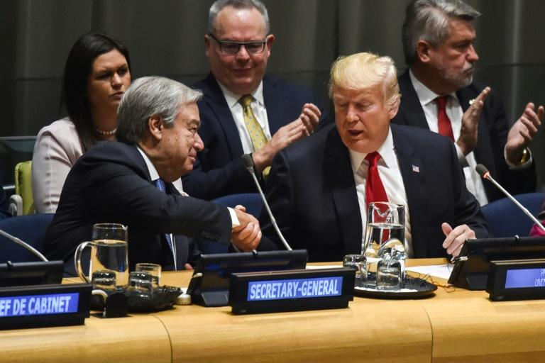 Trump vante à l'ONU son initiative