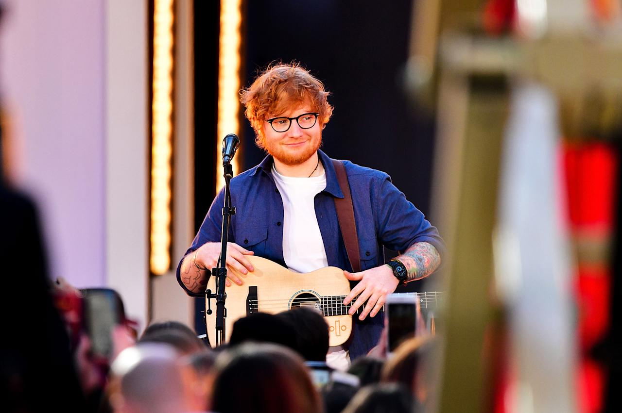 <p>Sheeran was nominated in this category three years ago with his sophomore album, <i>x</i>. With <i>÷</i>, he'll become the fifth solo Englishman to receive Album of the Year noms for back-to-back studio albums. He'll follow Elton John, Sting, Phil Collins, and Steve Winwood.<br />(Photo: James Devaney/Getty Images) </p>