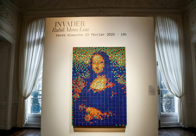 Invader's version of the 'Mona Lisa' was the first in a series of his recreations of classic paintings
