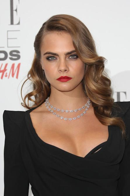 The ELLE Style Awards 2015 held at the Walkie Talkie Building - Arrivals Featuring: Cara Delevingne Where: London, United Kingdom When: 24 Feb 2015 Credit: Lia Toby/WENN.com