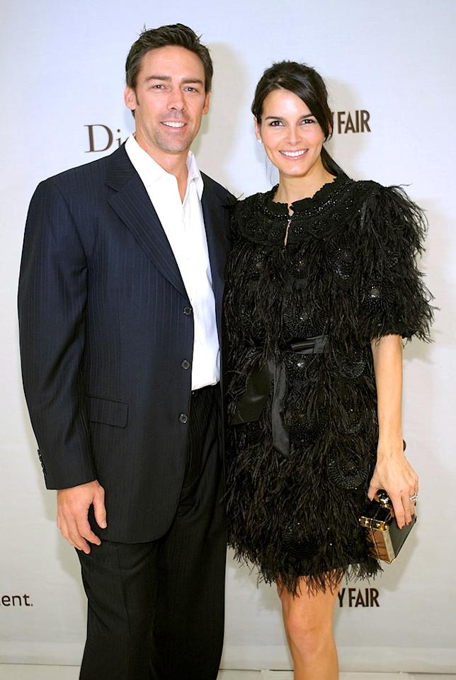 "The night's hottest couple? Jason Sehorn and his wife Angie Harmon! Stefanie Keenan/<a href=""http://www.wireimage.com"" target=""new"">WireImage.com</a> - February 19, 2009"