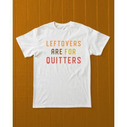 """<p>Country Living (that's us!)</p><p><strong>$25.00</strong></p><p><a href=""""https://shop.countryliving.com/leftovers-are-for-quitters-t-shirt.html"""" rel=""""nofollow noopener"""" target=""""_blank"""" data-ylk=""""slk:Shop Now"""" class=""""link rapid-noclick-resp"""">Shop Now</a></p><p>It's that time of year when big family meals are king. Celebrate feeling stuffed with our <em>Country Living</em> custom T-shirt. It'll stretch over full bellies, we promise!</p>"""