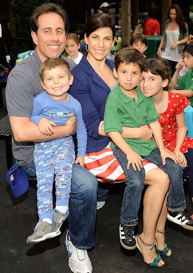 Jerry and Jessica with Shepherd, Julian, and Sascha in 2009. (Photo: Gary Gershoff/Getty Images for Baby Buggy)