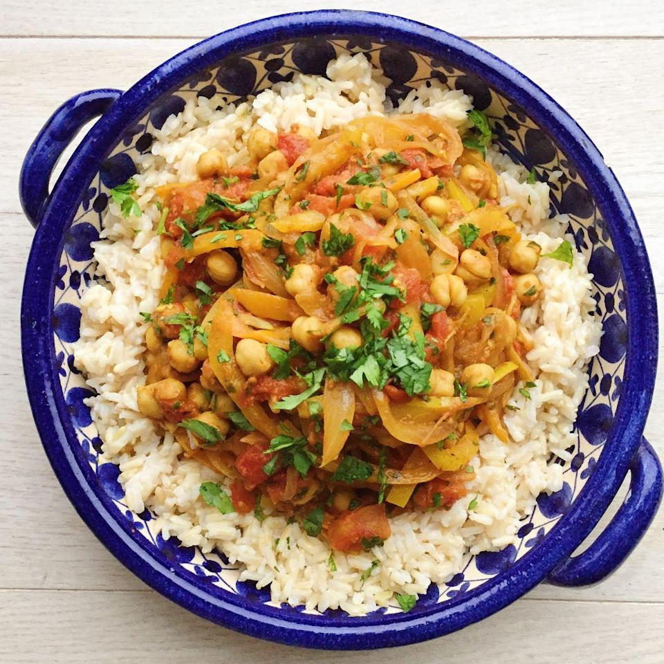 "<p>In a hurry for some curry? Of course you are. This recipe is super fast and tasty.</p><p>Get the recipe from <a href=""/cooking/recipe-ideas/recipes/a45041/chickpea-curry-recipe/"" data-ylk=""slk:Delish."" class=""link rapid-noclick-resp"">Delish.</a><br></p>"