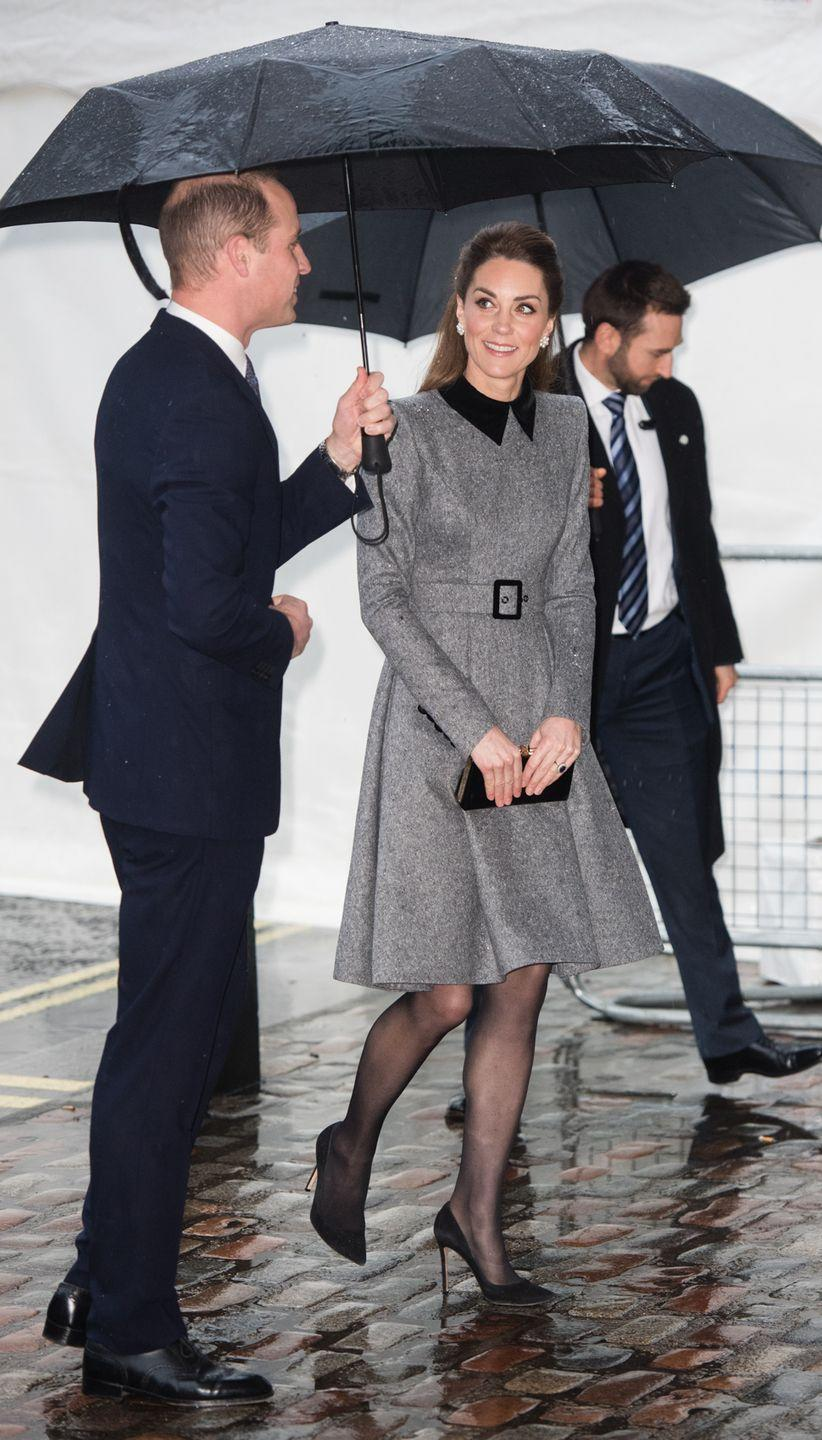 "<p>Kate and William attended the UK Holocaust Memorial Day Commemorative Ceremony together. The Duchess<a href=""https://www.townandcountrymag.com/society/tradition/a30677656/kate-middleton-prince-william-world-holocaust-gray-coat-photos/"" rel=""nofollow noopener"" target=""_blank"" data-ylk=""slk:rewore a gray coat dress for the solemn occasion"" class=""link rapid-noclick-resp""> rewore a gray coat dress for the solemn occasion</a>.</p>"