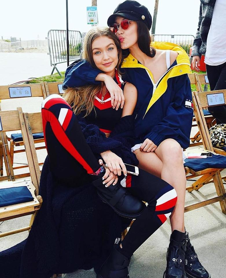 """<p>Bella praised her big sister, Gigi, following her appearance in Tommy Hilfiger's Tommy x Gigi fashion show in Venice Beach, Calif. """"I'm so proud of you and all of your accomplishments sister..another incredible collection and the most EPIC show I have ever seen,"""" she gushed. """"You shut down Venice beach…!!!! There is not a day that goes by that you don't fully & completely amaze me! I love you so much! Congratulations."""" (Photo: <a rel=""""nofollow"""" href=""""https://www.instagram.com/p/BQRr-kWALys/"""">Instagram</a>) </p>"""