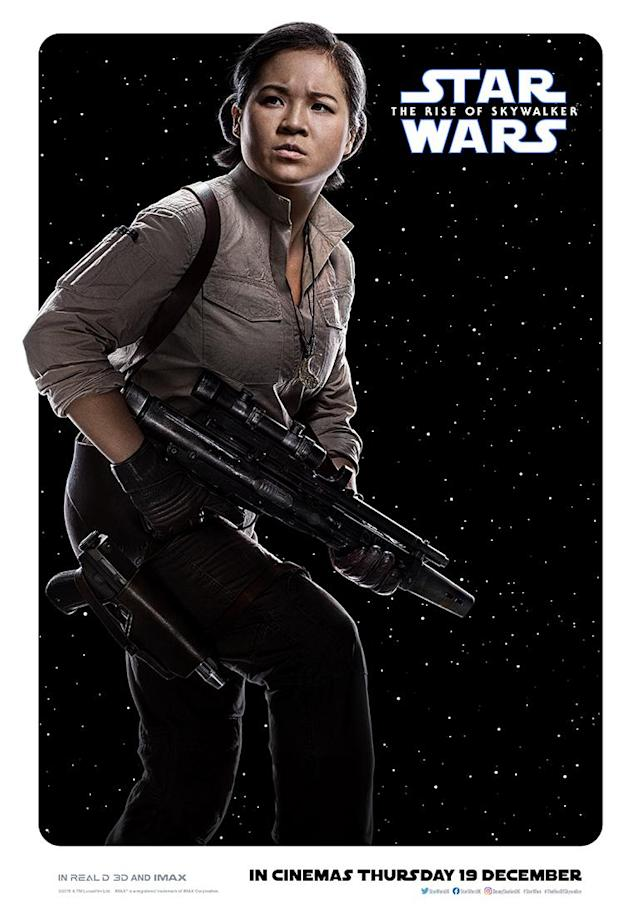 Kelly Marie Tran's Resistance fighter has evolved from her position as a mechanic in <em>The Last Jedi</em>. (Disney)